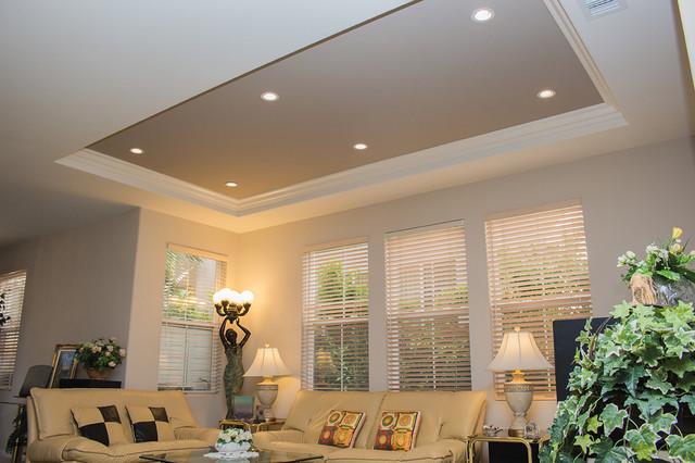 coffer lighting. irvine coffer ceiling below new loft addition traditionallivingroom lighting