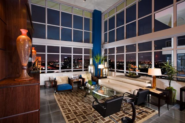 Irvine Penthouse Contemporary Living Room Other