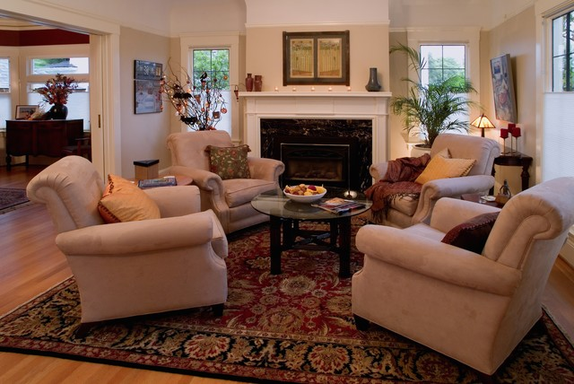 Http Www Houzz Com Photos 143390 Irvington Arts And Crafts Traditional Living Room Portland