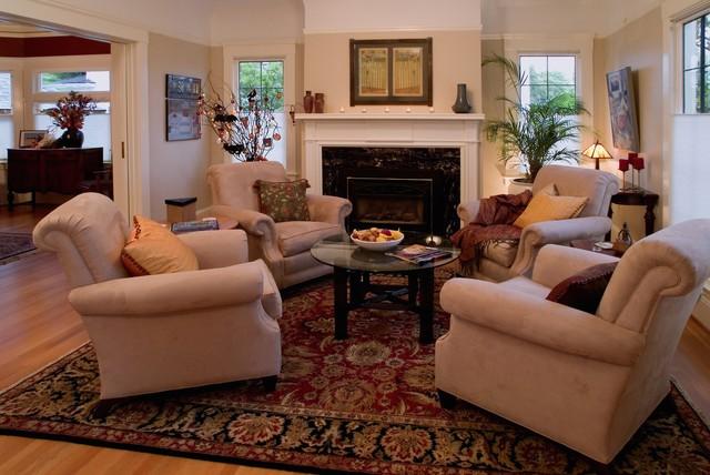 Irvington Arts And Crafts American Traditional Living Room Portland By Emery Associates Interior Design