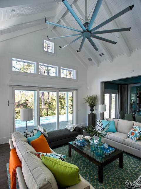 Isis Ceiling Fan Contemporary Living Room Jacksonville By