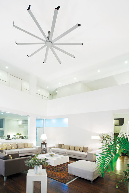 Isis Ceiling Fan Contemporary Living Room Other