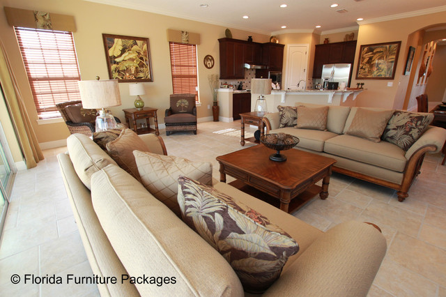 Island Feel Tropical Living Room Orlando By Florida Furniture Packages