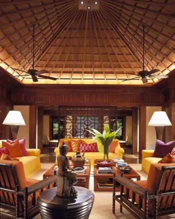 Island residence for Tropical living room design
