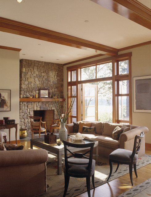 Island Residence Traditional Living Room Seattle