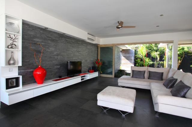 Island Stone Silver Quartzitic Slate Large Strip Living ...