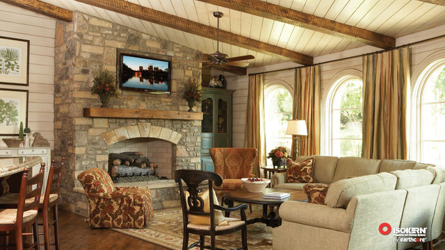 Isokern Fireplaces Traditional Living Room Sacramento By Rustic Brick And Stone