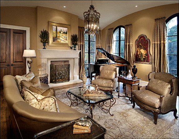Italian Luxury Traditional Living Room Atlanta By
