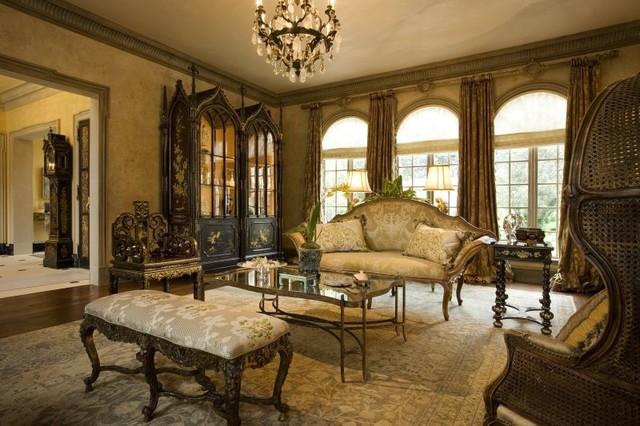 Italian Renaissance Villa In Dallas, TX Mediterranean Living Room