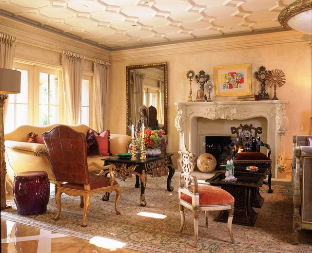 Italian Style In Newport Coast California Traditional Living Room Orange County By