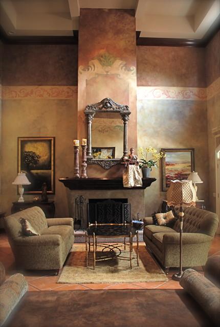 Italian Villa mediterranean-living-room