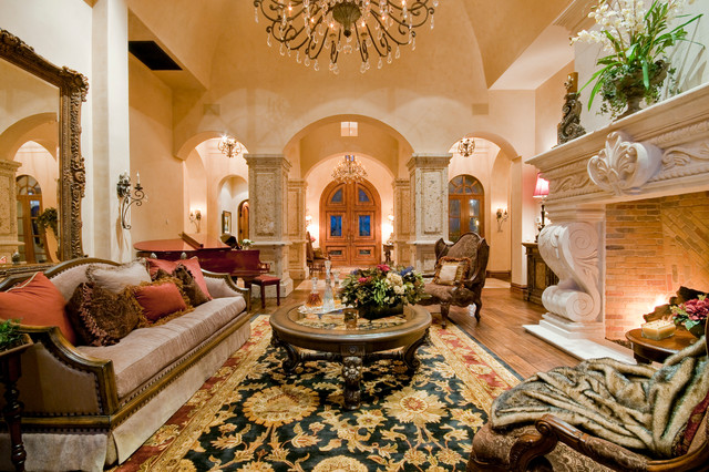 Tuscany Courtyard Mediterranean Living Room Other By Fratantoni Interior Designers