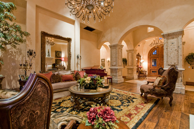 Tuscany Courtyard Mediterranean Living Room Other Metro By Fratantoni Interior Designers