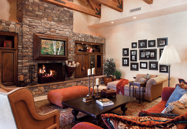 Italian villa stone fireplace coronado stone products for Italian villa decorating ideas
