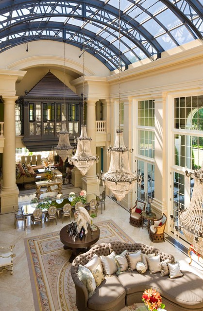Inspiration for a mediterranean living room remodel in Minneapolis