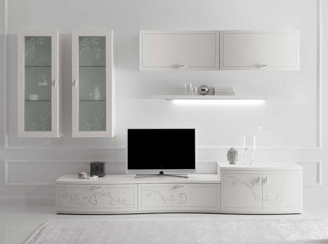 Italian Wall Unit Prestige Liberty 102 White by Spar - $6,999.00 ...