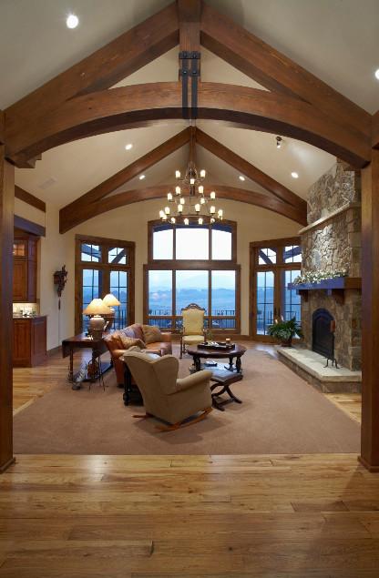 J Allen Construction traditional-living-room
