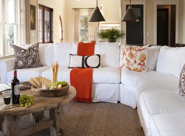 J. BROWN CONTRACTORS tropical-living-room