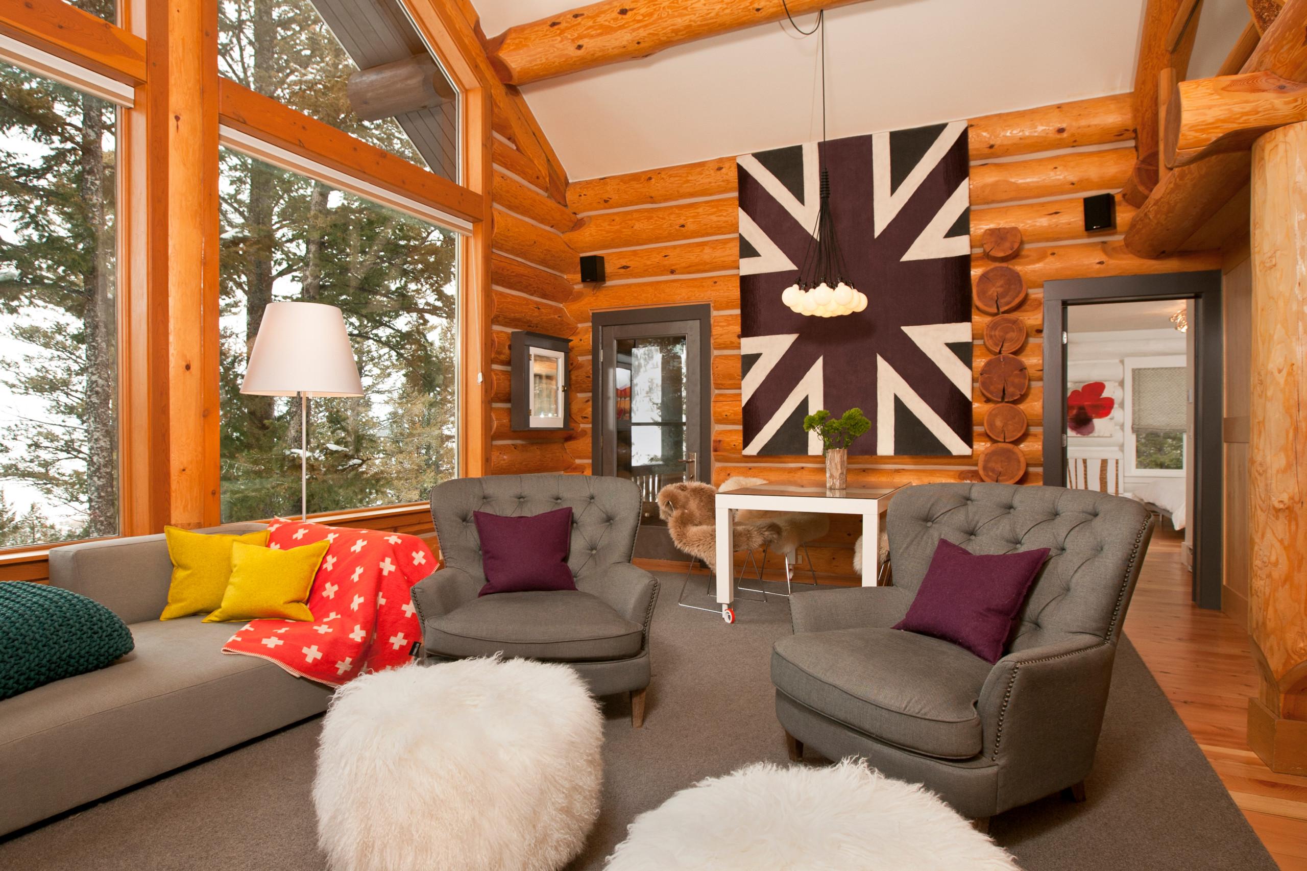 Modern Log Cabin Houzz