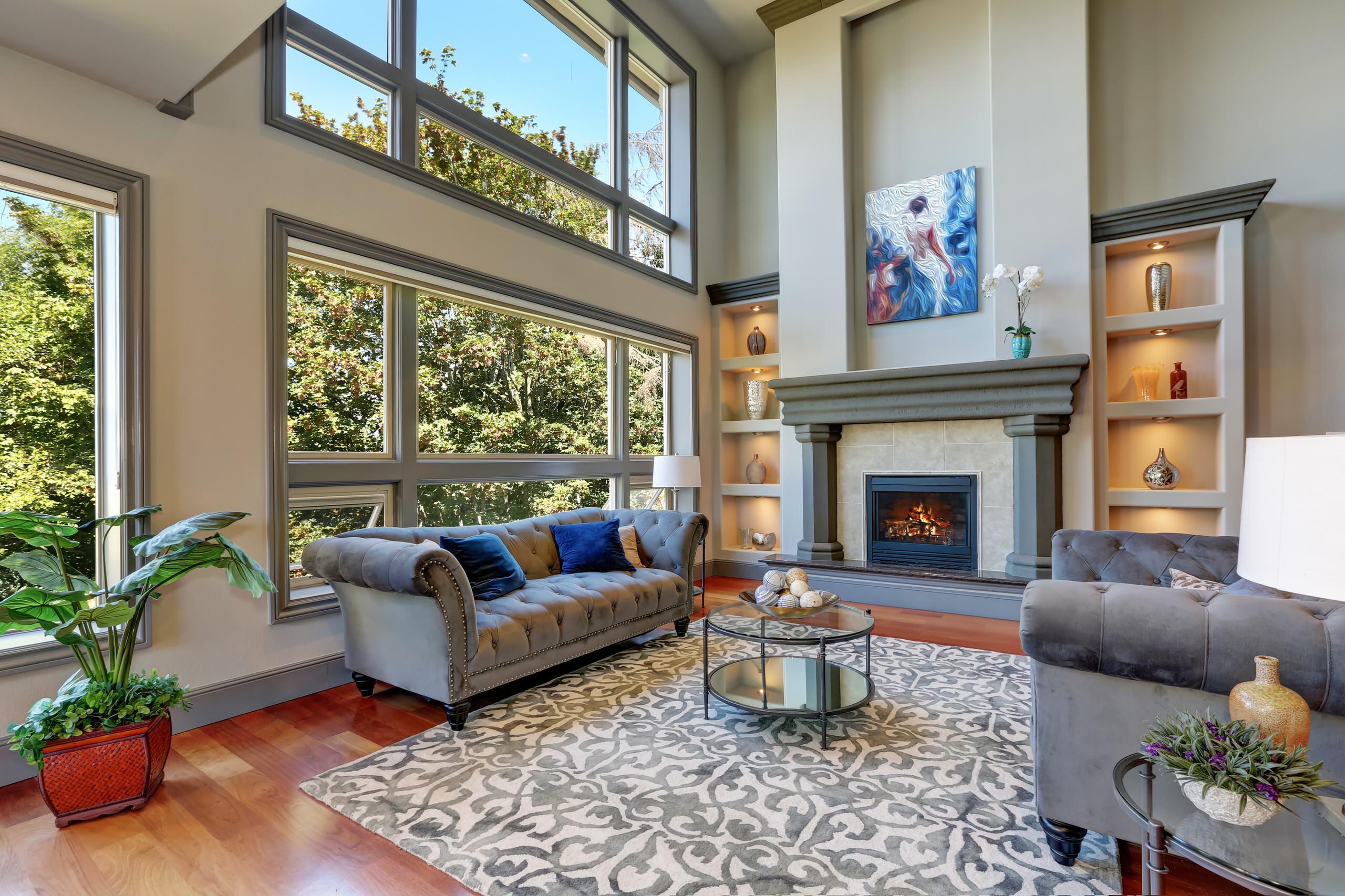 75 Beautiful Medium Tone Wood Floor Living Room Pictures Ideas February 2021 Houzz