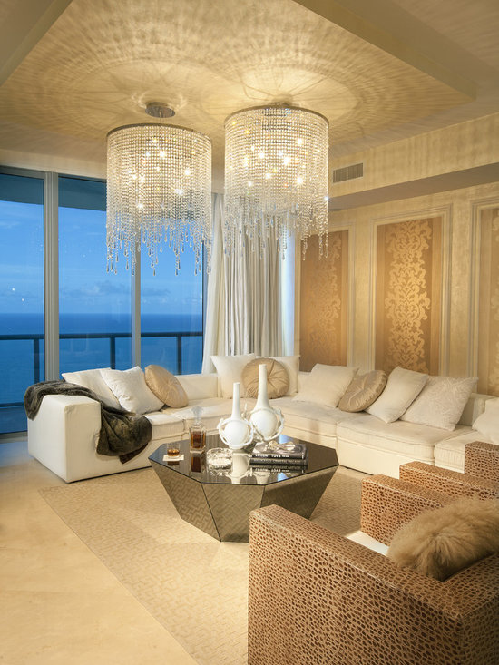 Chandelier living room design ideas pictures remodel and for Living room decor ideas houzz