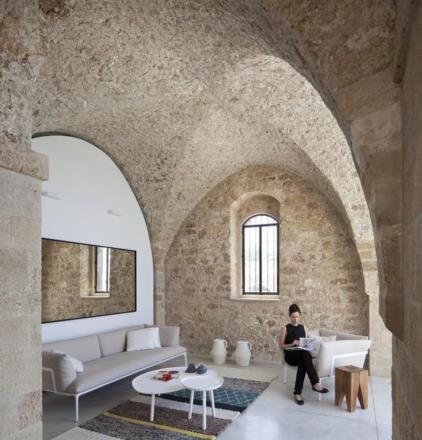 Jaffa Tel-Aviv Apt modern-living-room