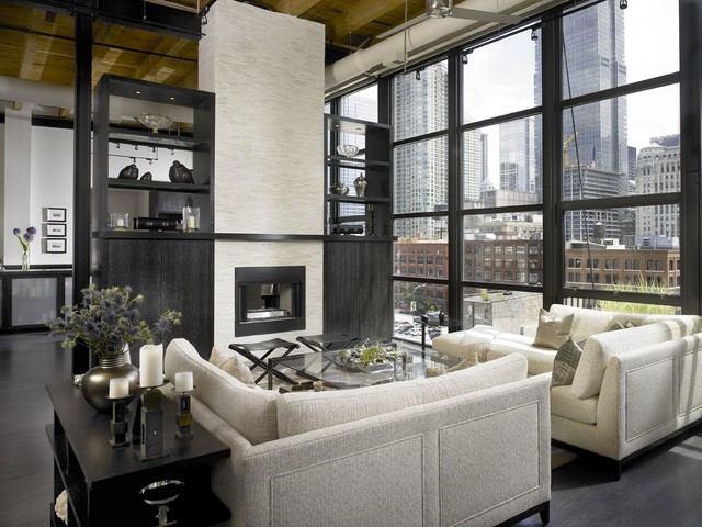 contemporary living room by jamesthomas, LLC
