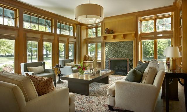 Arts And Crafts Style Living Room: Jamesthomas, LLC