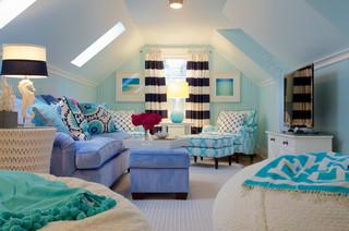 amusing new england contemporary living room   Jamestown, New England Island Home - Contemporary - Living ...