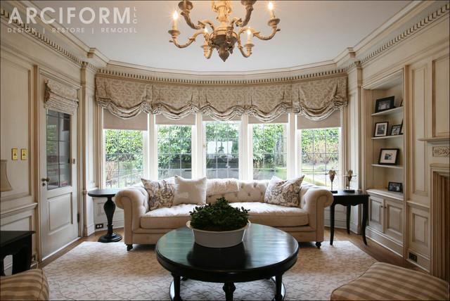 Jan david 39 s elegant colonial revival traditional for Elegant traditional living rooms