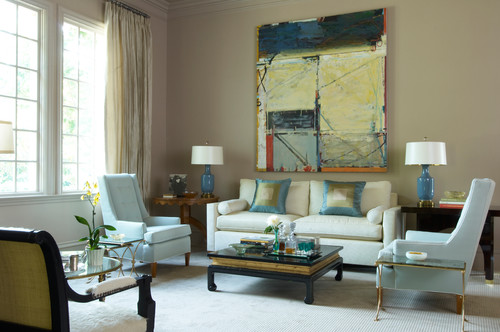 contemporary living room ideas and photos beige and blue