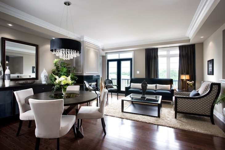 Living room - modern living room idea in Toronto
