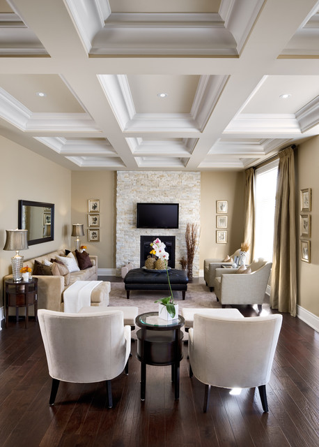 "Jane Lockhart Interior Design, Kylemore Model Home ""Dublin"" traditional-living-room"