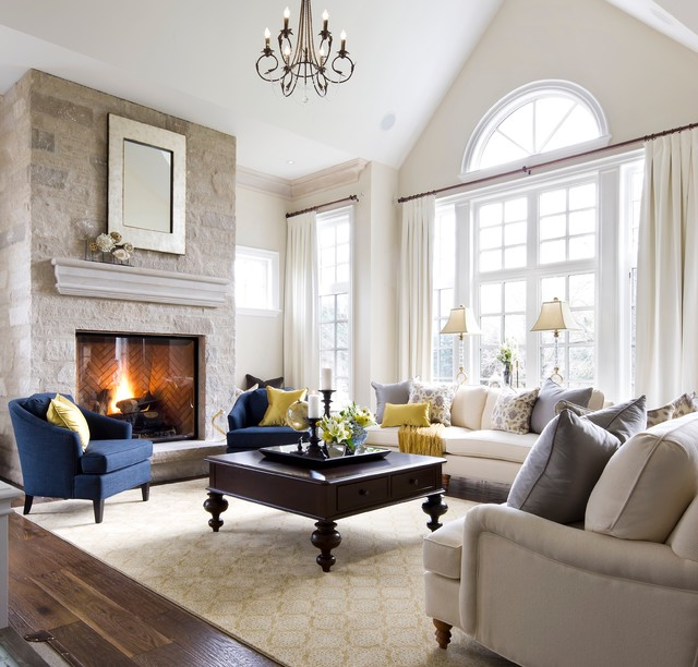 Jane Lockhart Kylemore Custom Home Traditional Living Room