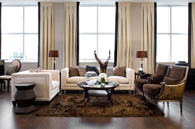 Jane Lockhart Loft Living Room Modern Living Room
