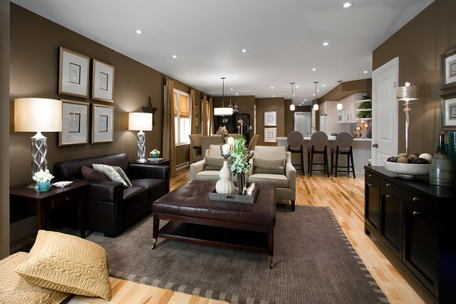 Jane lockhart open concept living room moderno for Houzz soggiorno