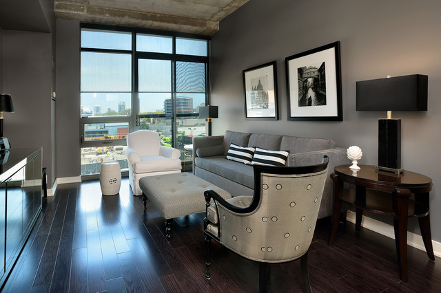 Janet williams interiors condo design contemporary for Small condo decor