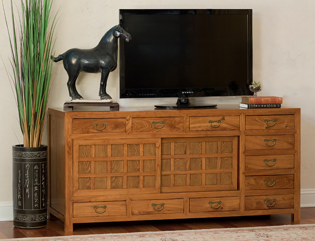 Merveilleux Japanese Tansu Style Sideboard Asian Living Room