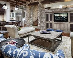JAUREGUI Architecture rustic-living-room