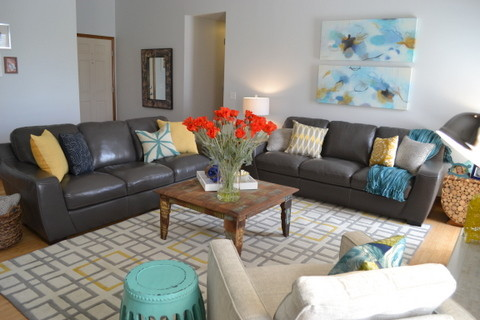 gray and turquoise living room decorating ideas. JC Living room contemporary living  Contemporary Room Omaha by Fluff