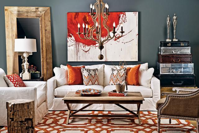 Jenna Slipcover Sofa Novella Salon Contemporary Living Room