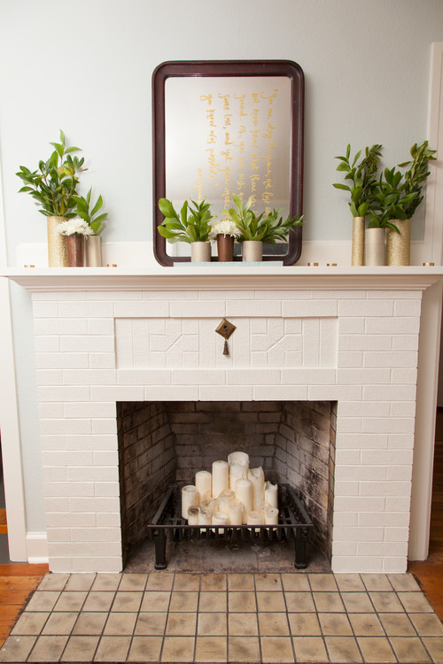 10 ways to decorate your fireplace in the summer since Fireplace ideas no fire