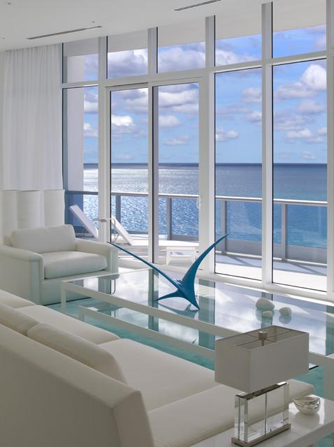 apartment at the bath club miami beach modern living room miami