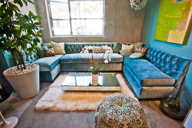 Jewlery Designers Live Work Loft eclectic-living-room