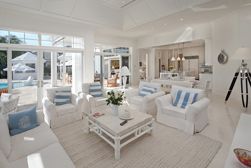 Ocean Themed Living Room 7 Beach Homes That Don't Come Close To Making Us Seasick Photos .