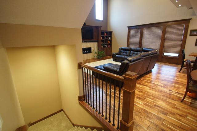 johnson house - railings traditional-living-room