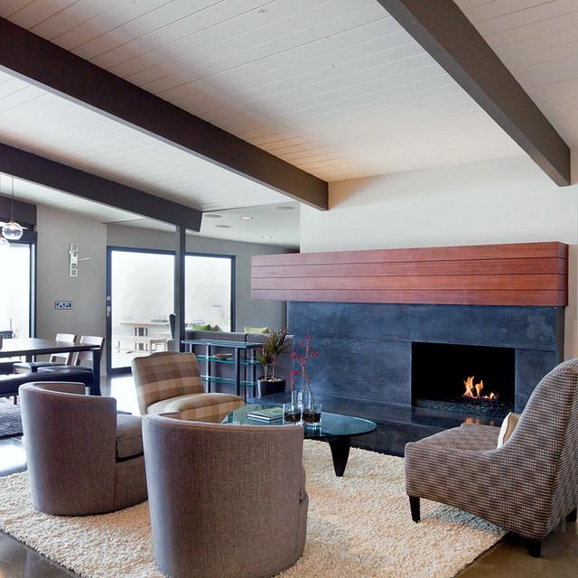 Mid Century Modern Fireplace: Jones House