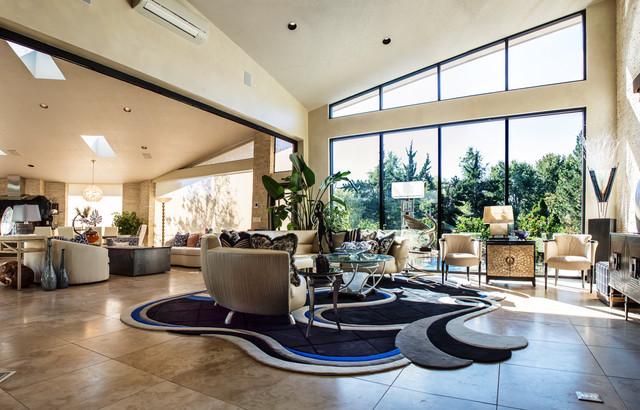 Jones Room Addition contemporary-living-room