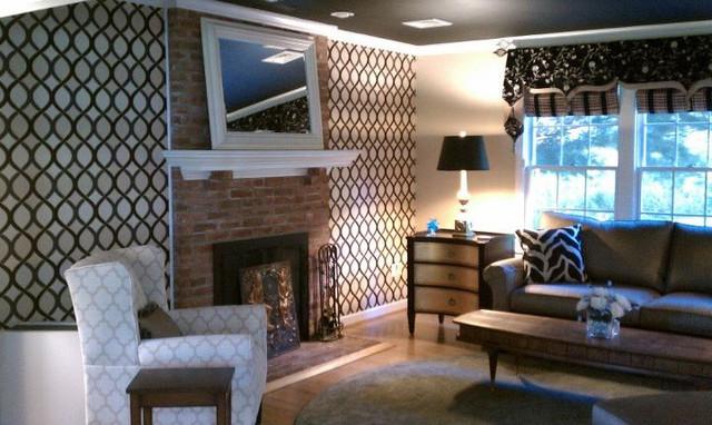 Jordan Conover Interior Design   East Granby Mixed Contemporary contemporary-living-room