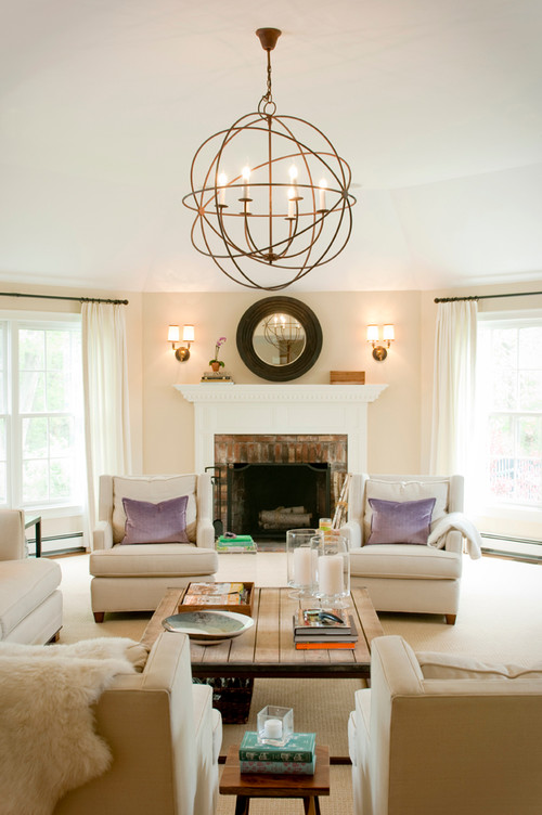 Transitional Living Room by Hingham Interior Designers & Decorators Delicious Designs Home